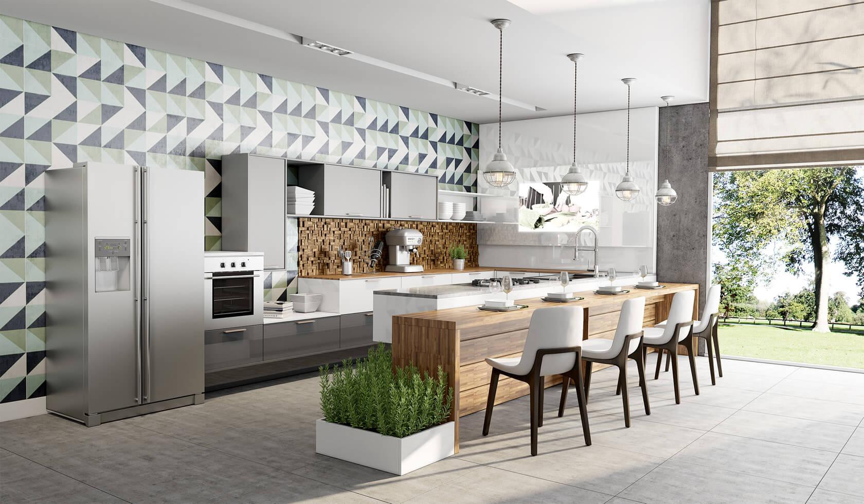 cozinha planejada estilo escandinavo
