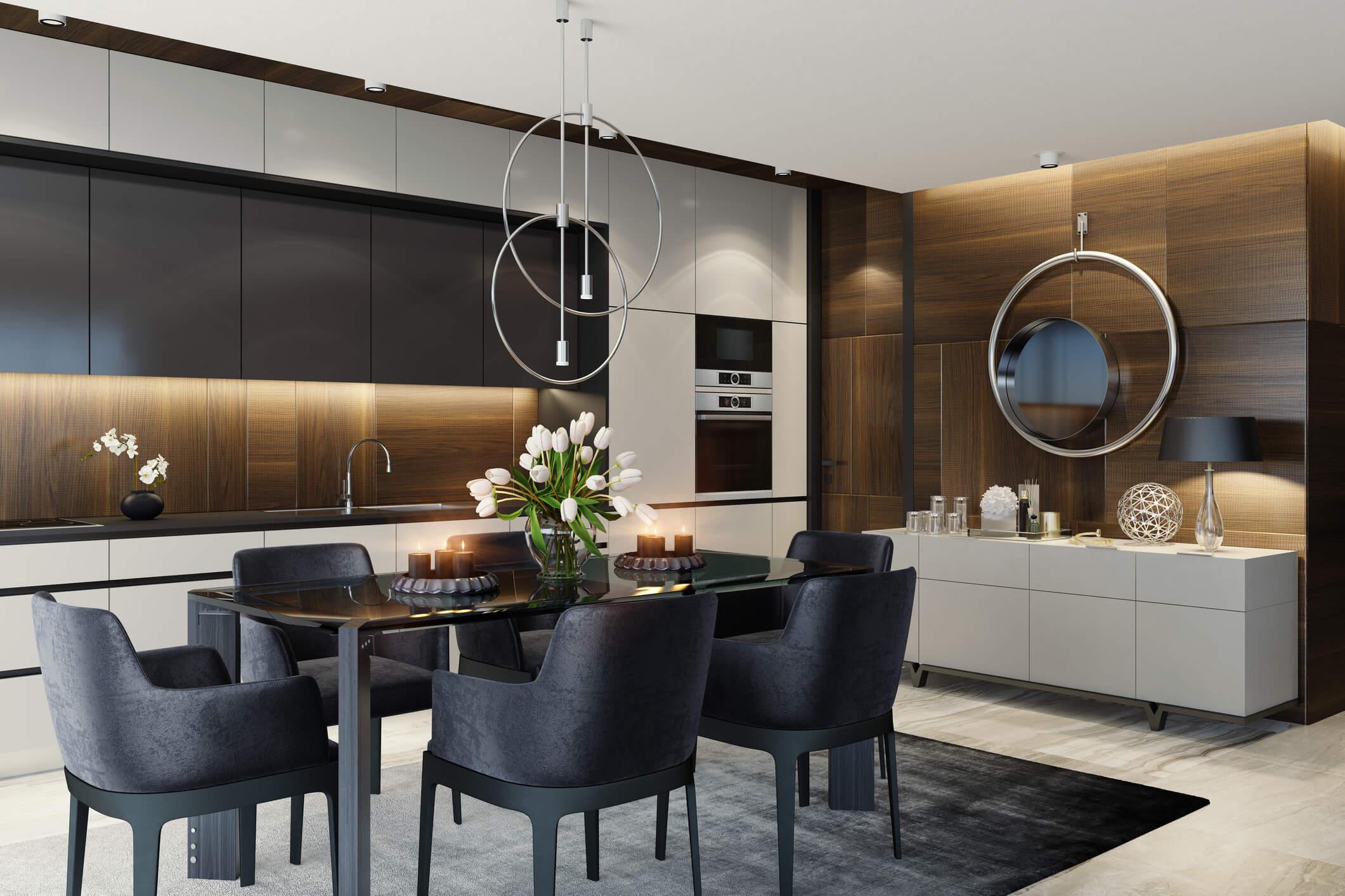 estilo de decoração cozinha contemporanea