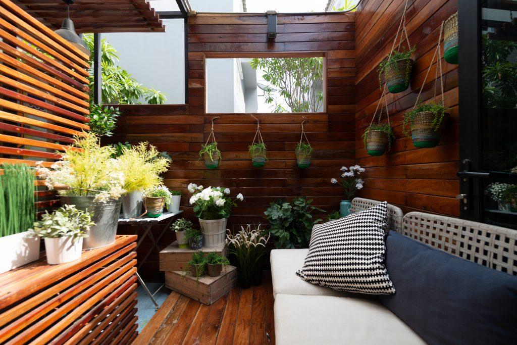 jardim de inverno madeira e claraboia