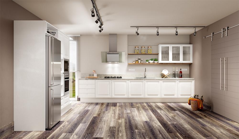 cozinha planejada estilo provençal tons de branco