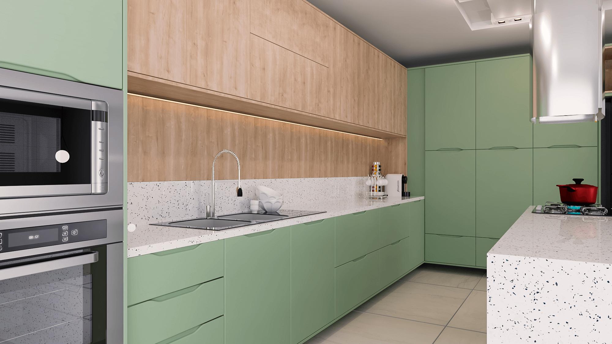cozinha verde pastel
