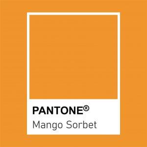 pantone mango sorbet