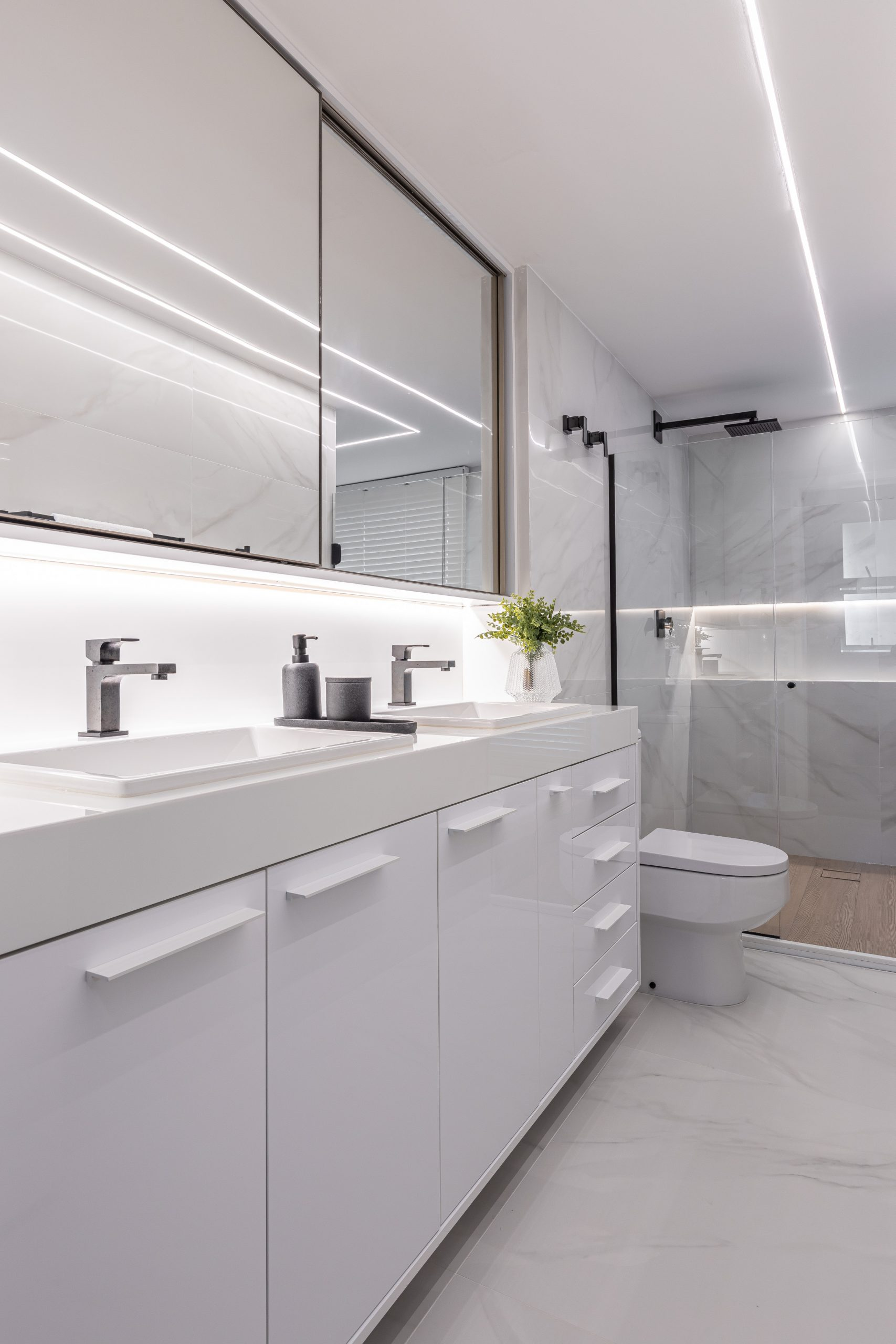 banheiro branco all white