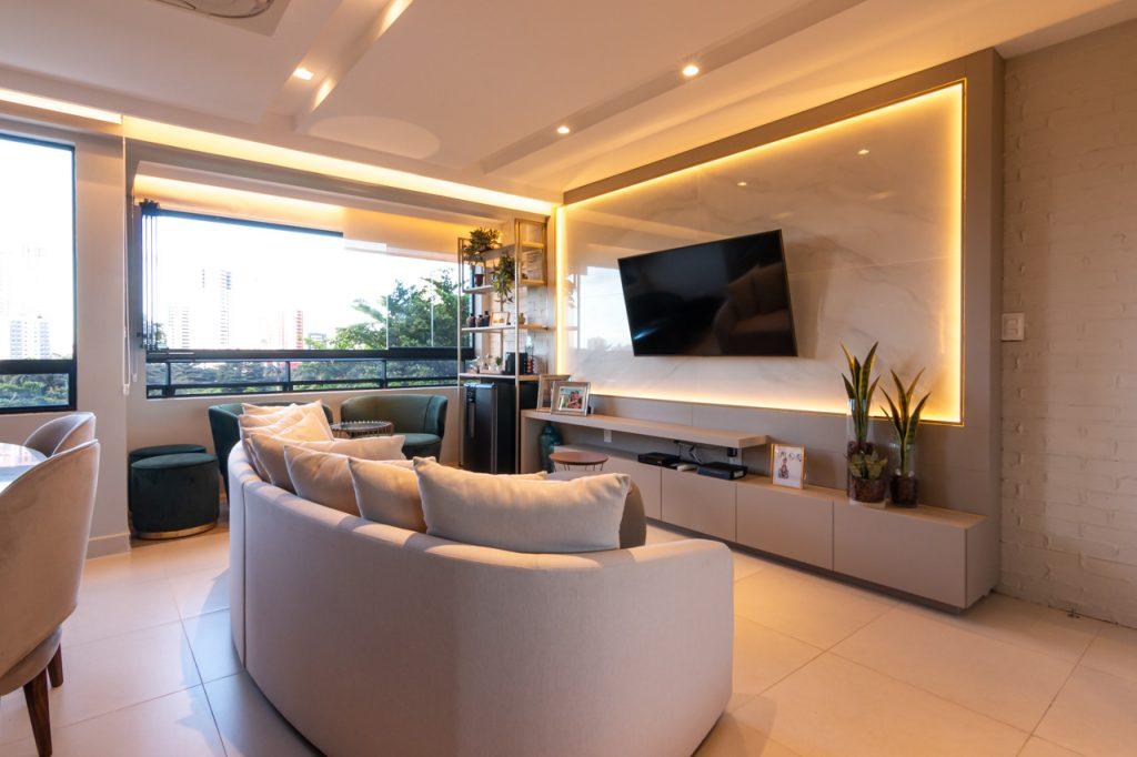 painel de TV com LED
