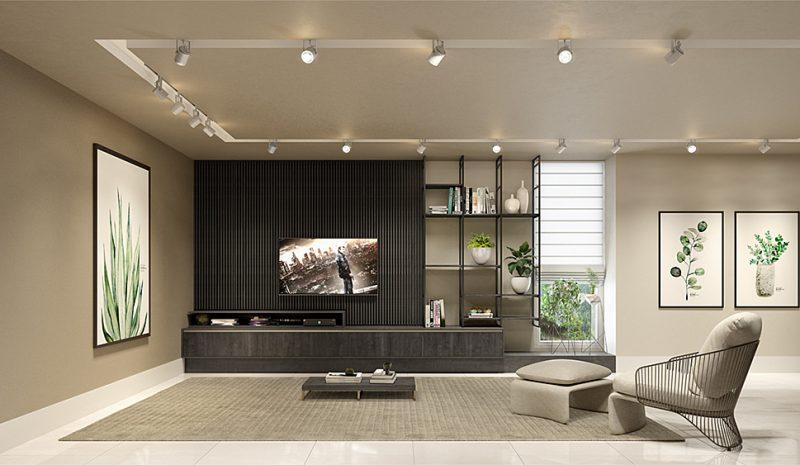 Como planejar painéis funcionais para sala de TV?