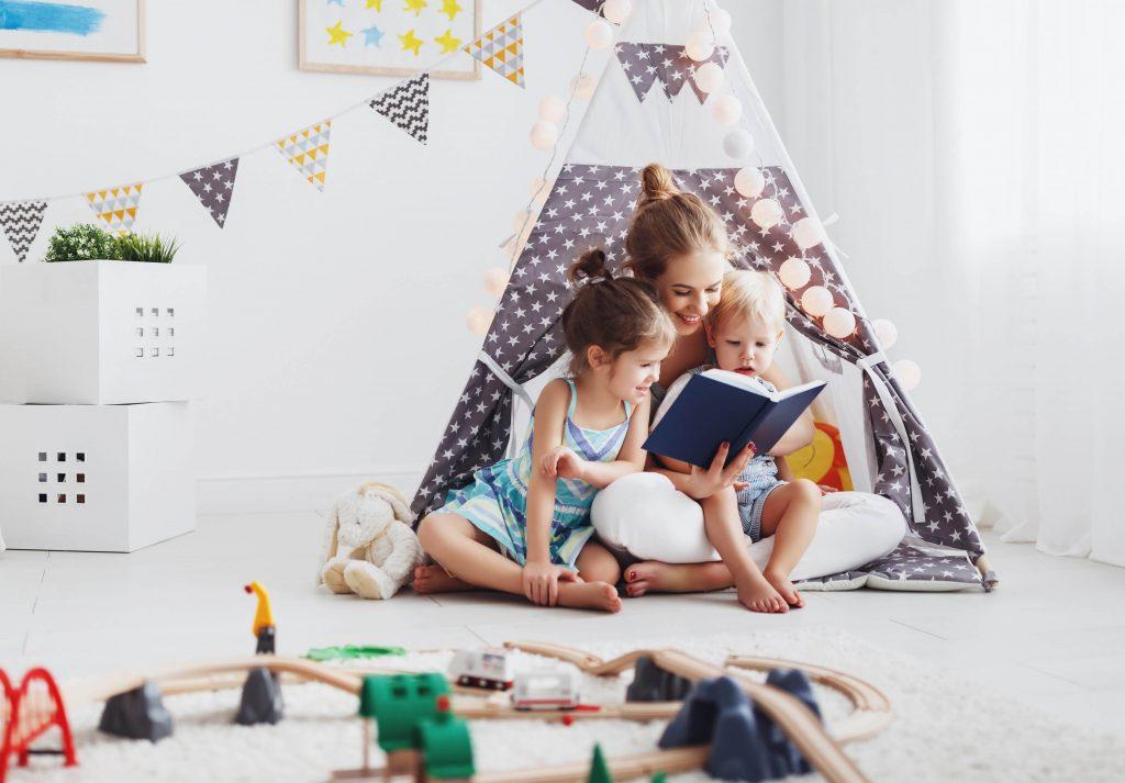 contação histórias tenda quarto infantil