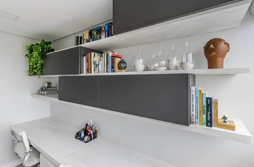 home office clean branco