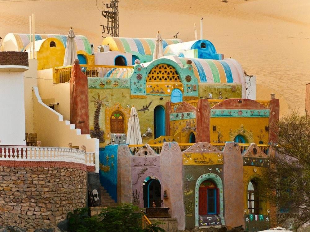 construção africana arquitetura cores vivas cores fortes poder das cores