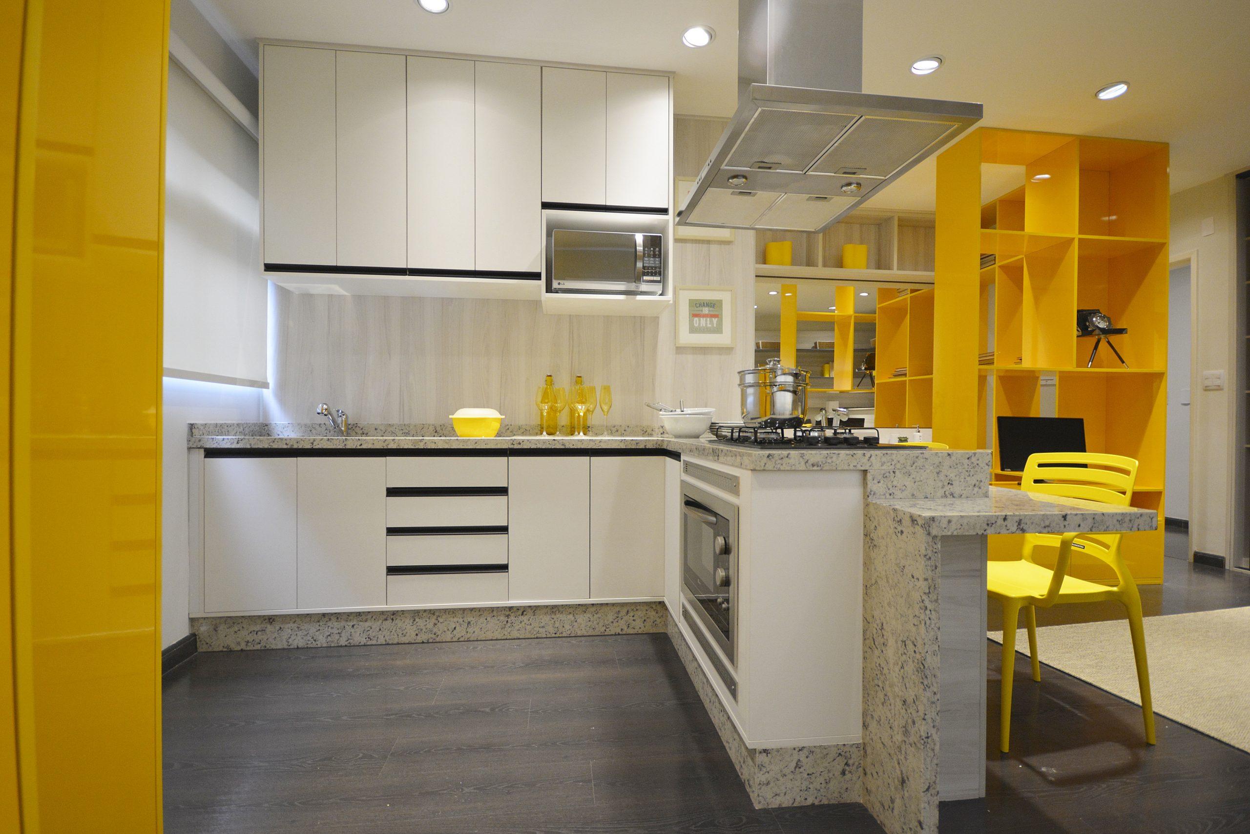 cozinha amarela finger