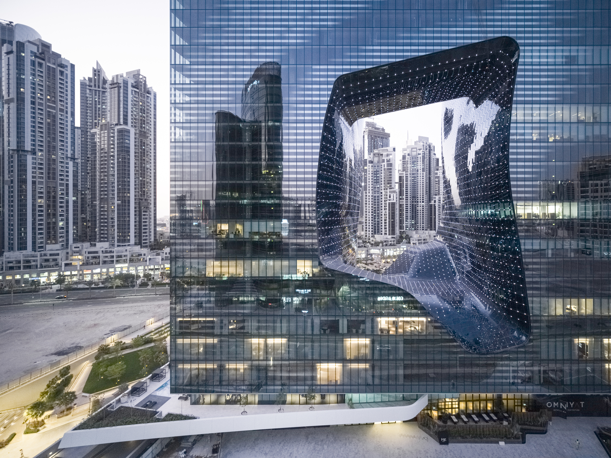 edificio projetado pela arquiteta famosa Zaha Hadid