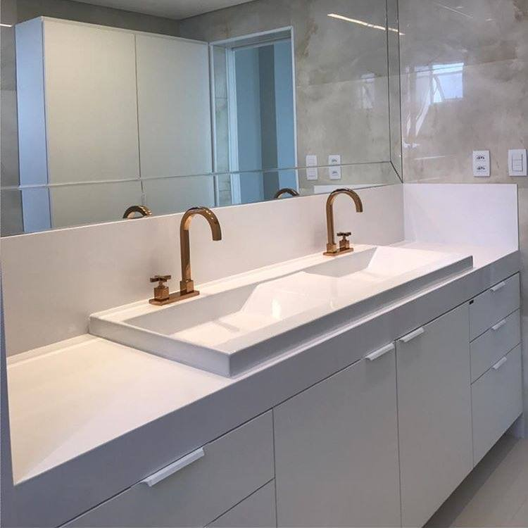 Banheiro Branco duplo