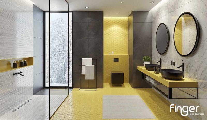 Banheiro duplo: conheça as vantagens dessa estrutura!