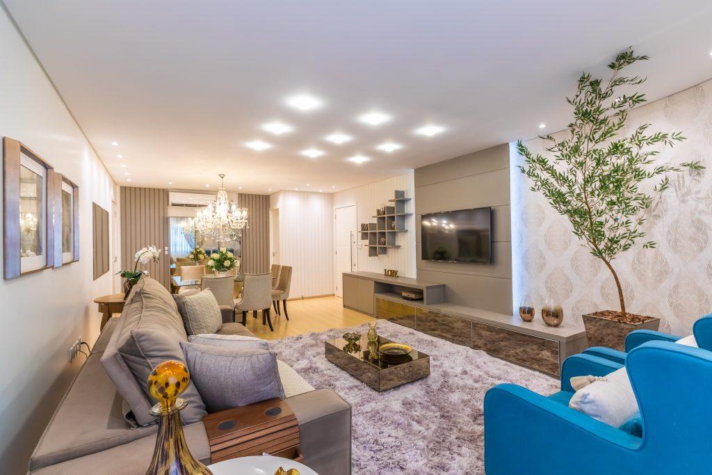 luz fria living home theater ambientes integrados