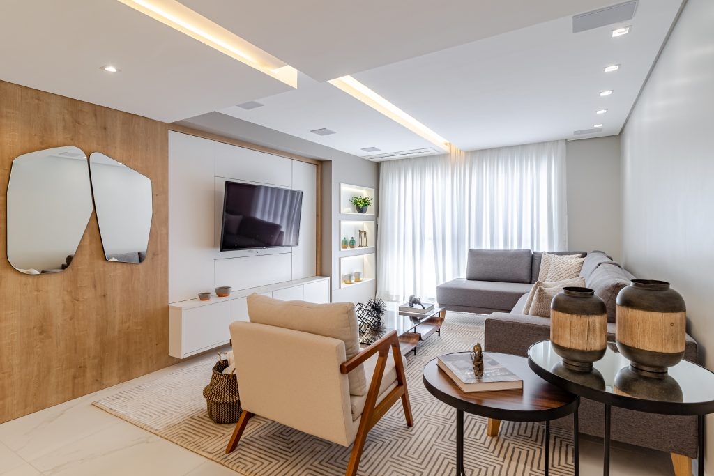 sala de estar tapete tamanho certo para sala