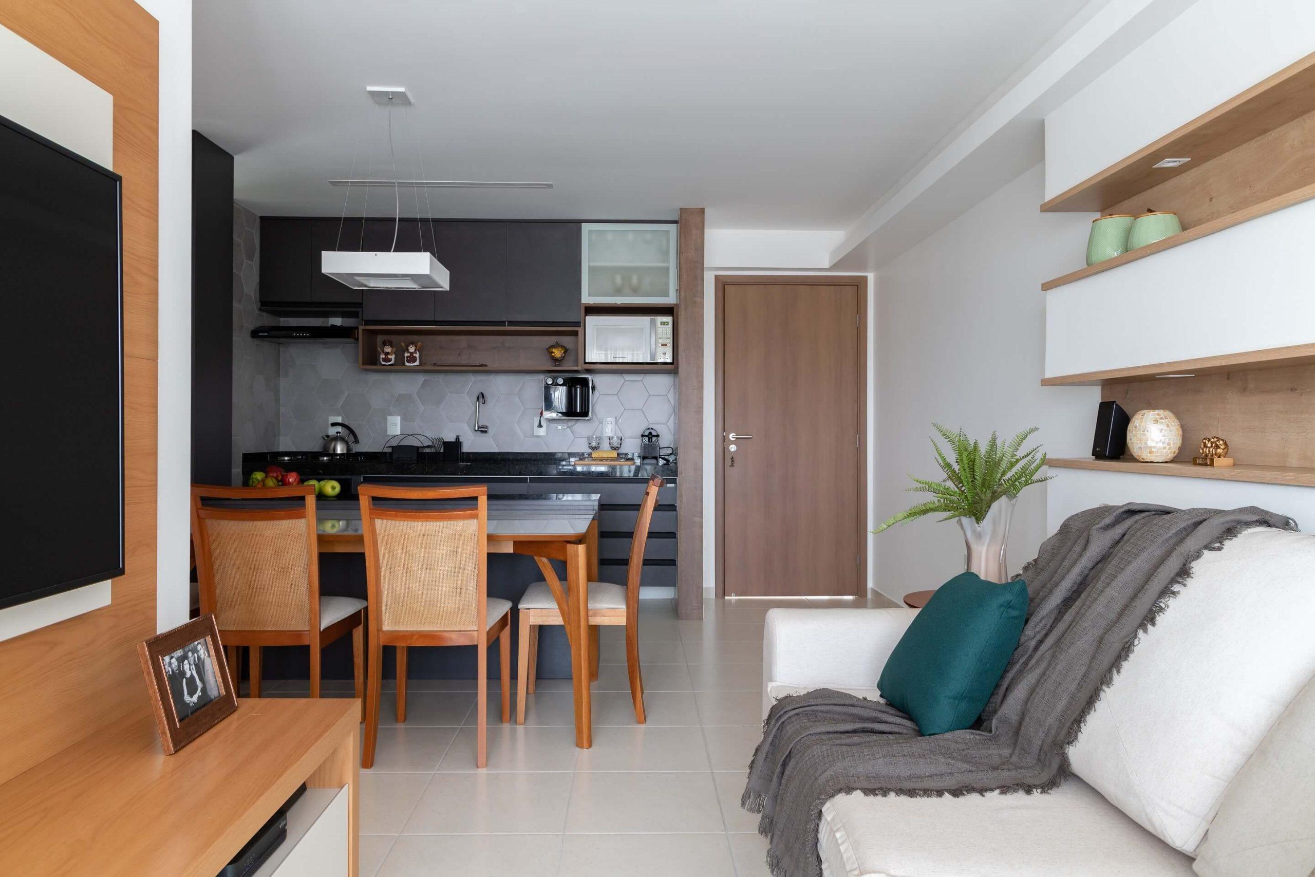 cozinha e sala planejada ambientes planejados