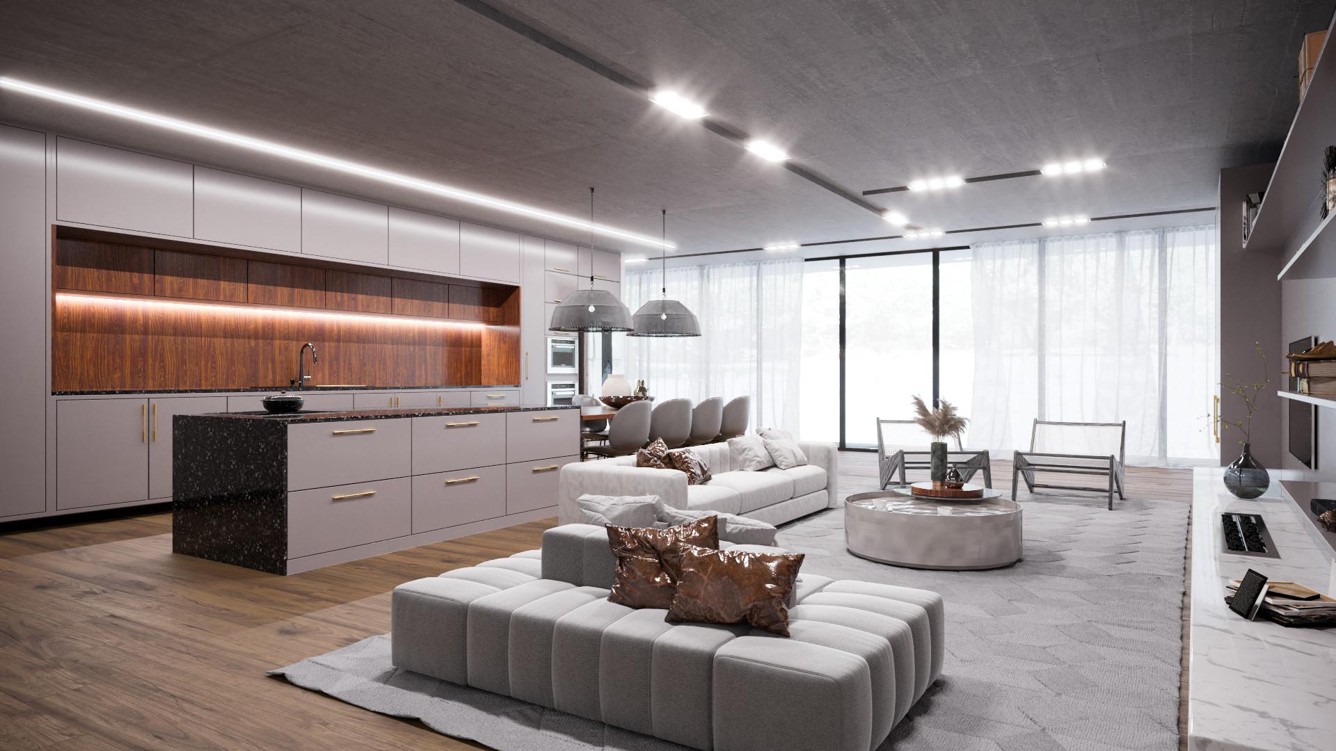 cozinha e sala integrada origens 2022