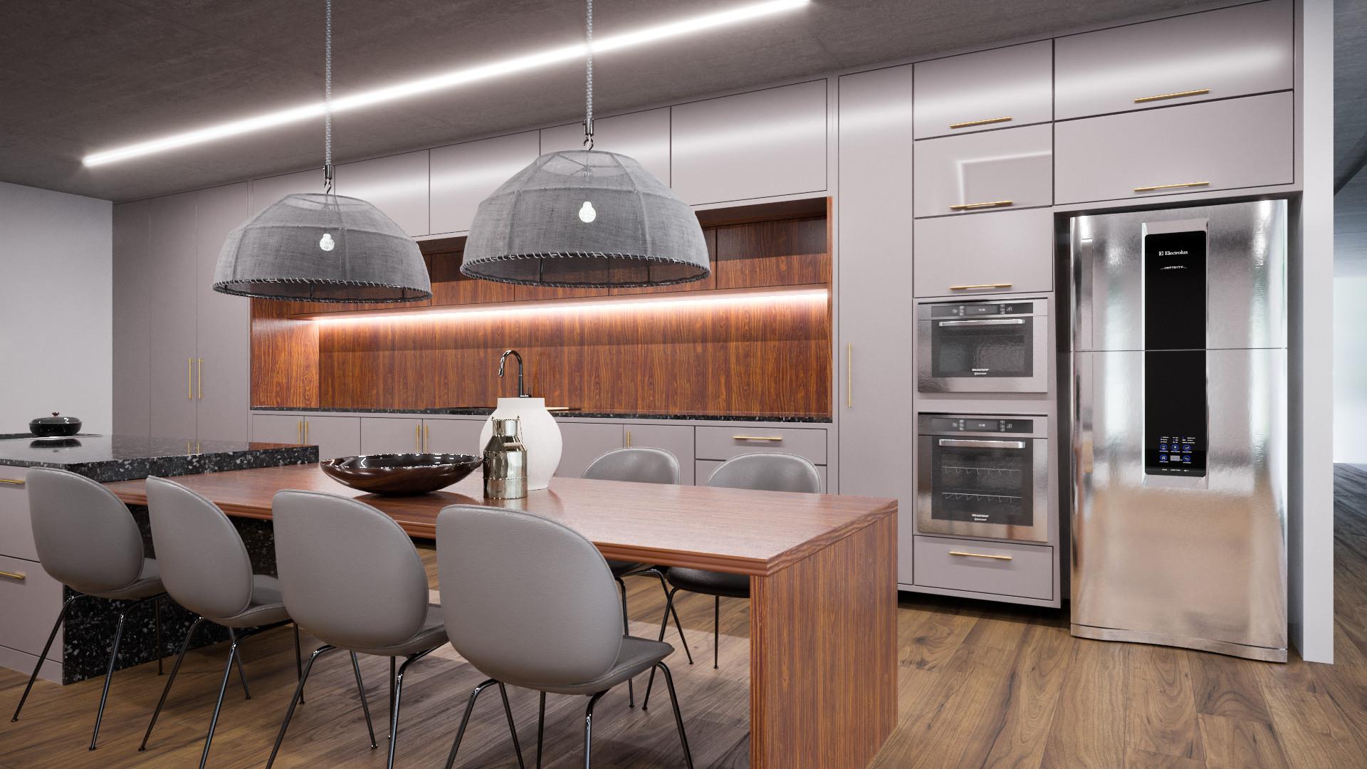 cozinha com ilha origens 2022