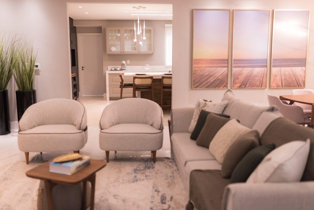 almofadas decorativas sala de estar ambientes integrados