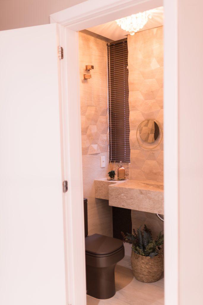 Lavabo pequeno banheiro planejado